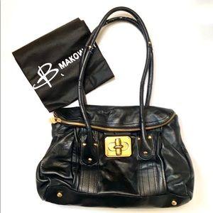 B. Makowsky Leather Hobo Bag